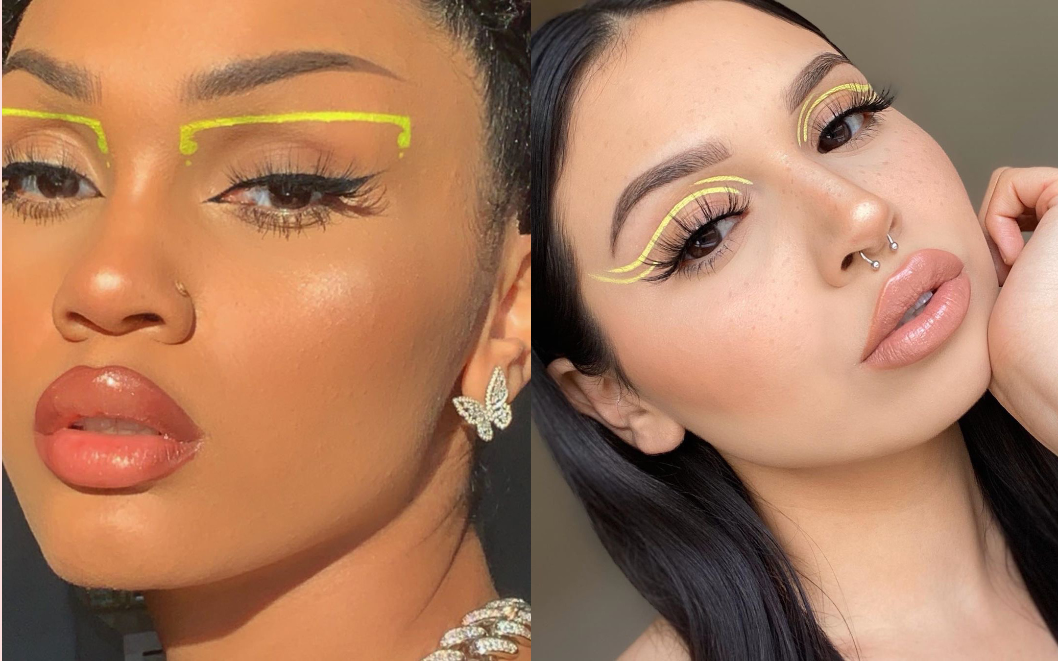 Yellow Eyeliner Look