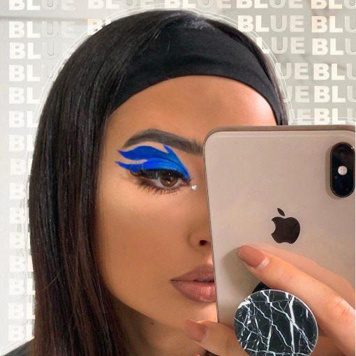 Blue Eyeliner Looks