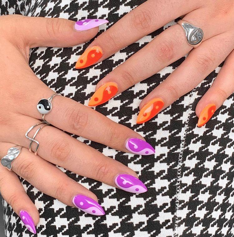 Yin and Yang Nails