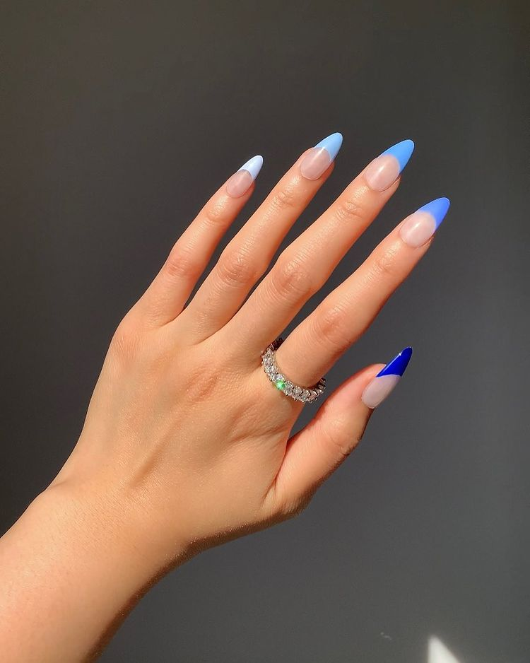 Different Color French Tip Nails