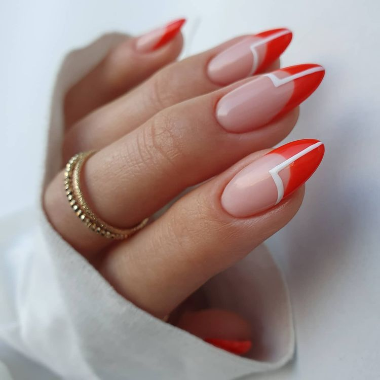 Red French Nails
