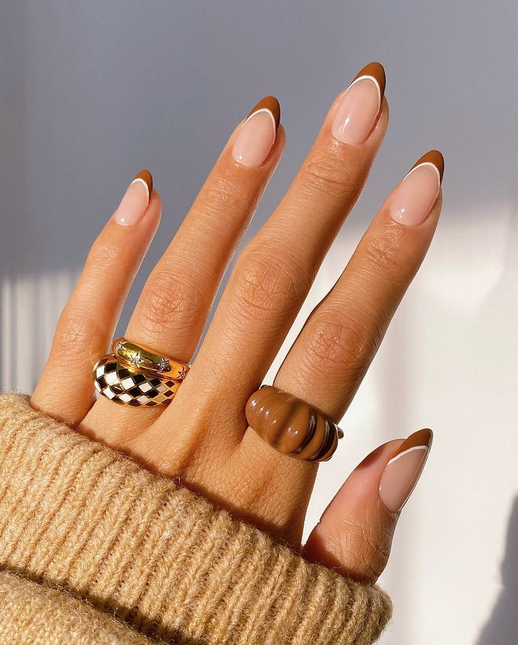 Brown French Tip