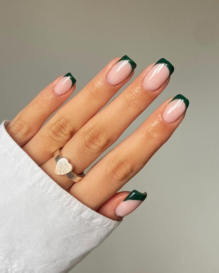 Dark Emerald Nails